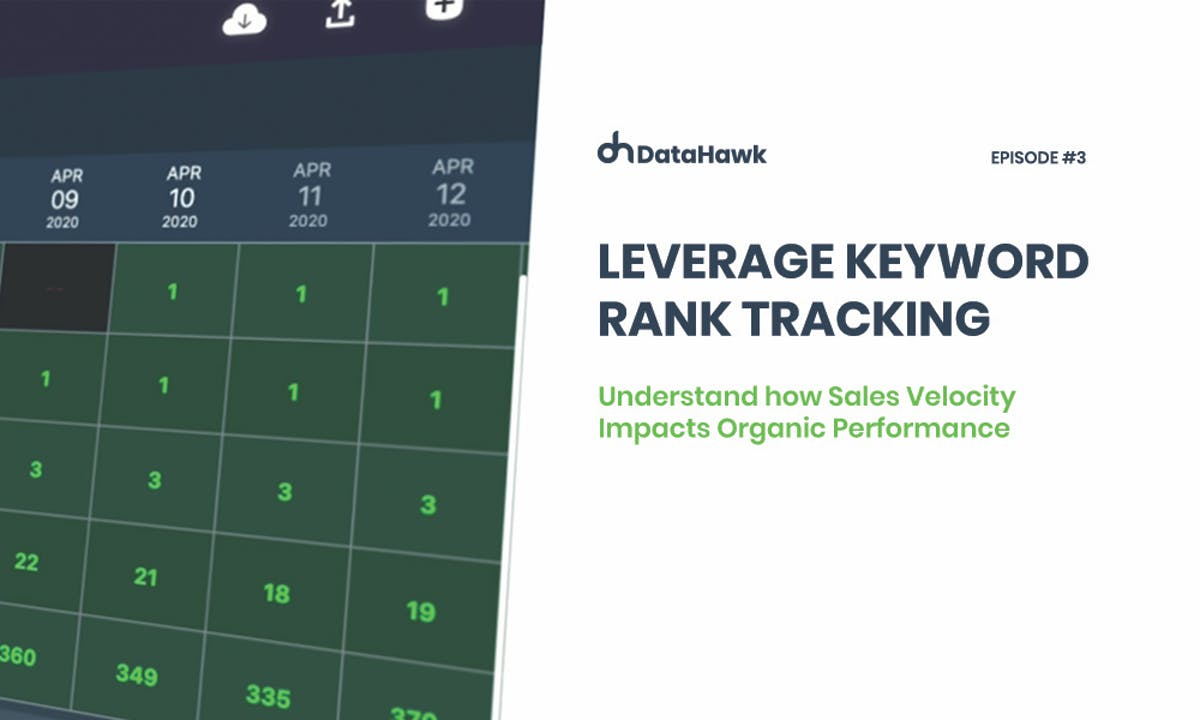 Amazon Keyword Rank Tracking to Understand how Sales Velocity Impacts Organic Performance