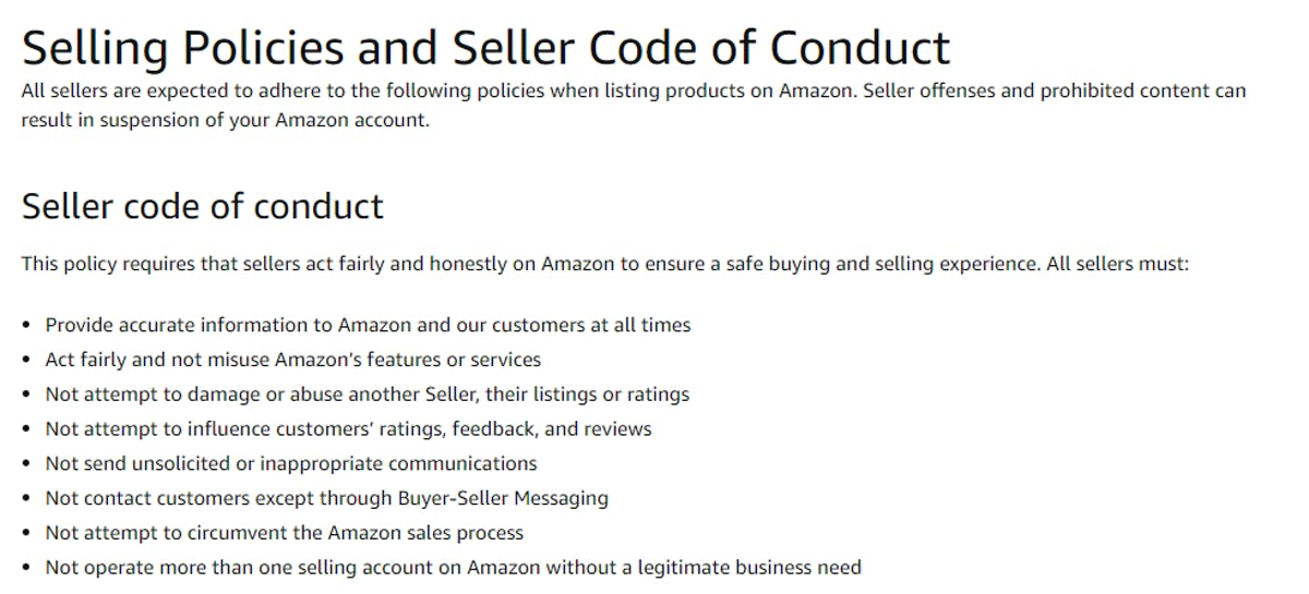 How to write a Product Insert that is Amazon TOS Compliant