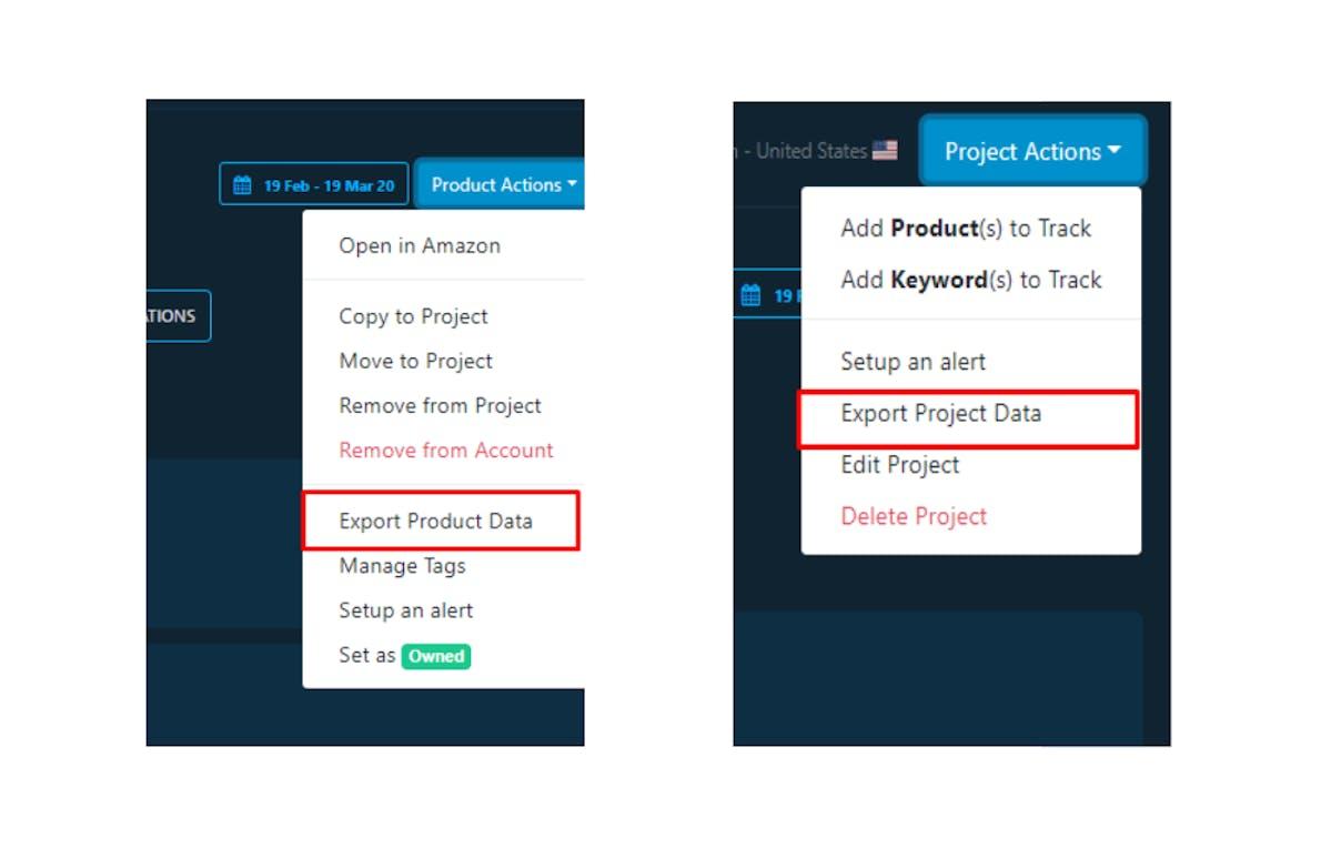 DataHawk Export. Project Data