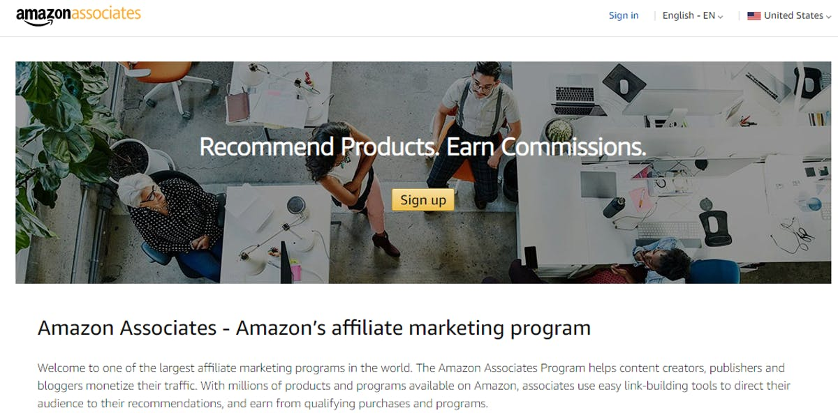 Amazon Affiliate and Influencer Program