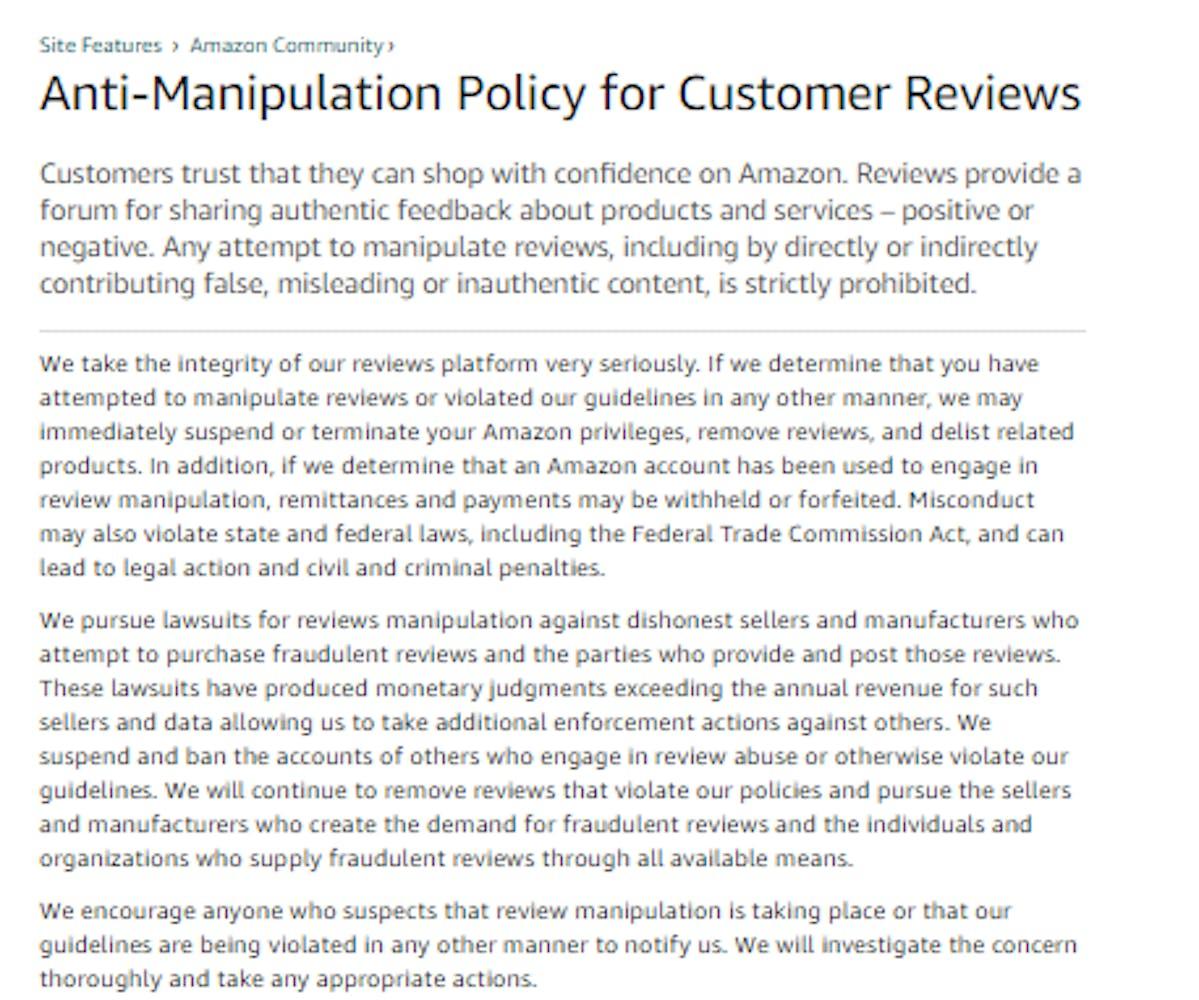 Amazon Verified Purchases