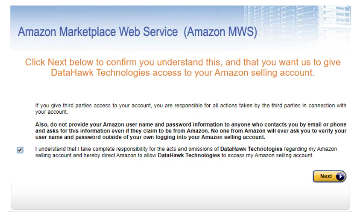 Amazon MWS Form