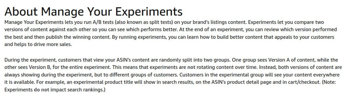 How Amazon does ab testing
