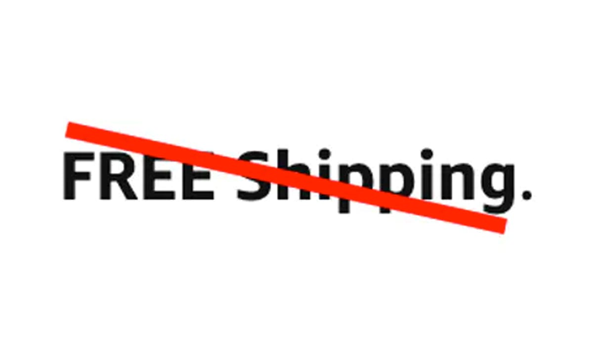 Free Shipping Promotions No Longer Be Supported
