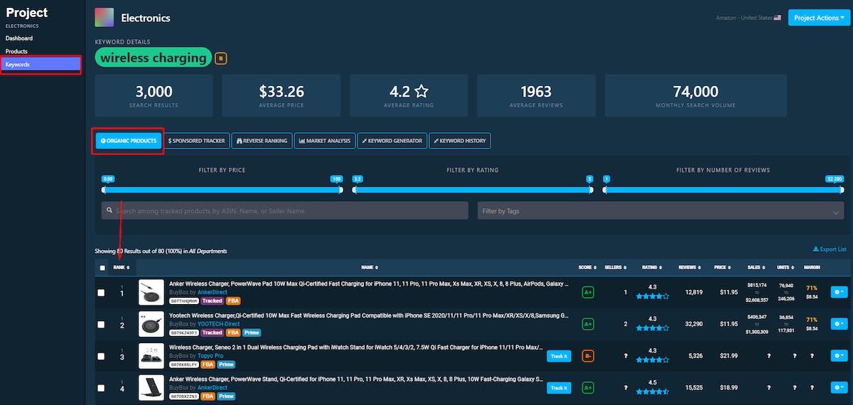 DataHawk Organic Rank Tracker