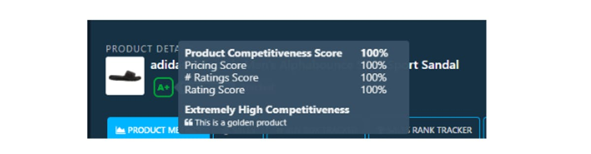 DataHawk Product Competitive score