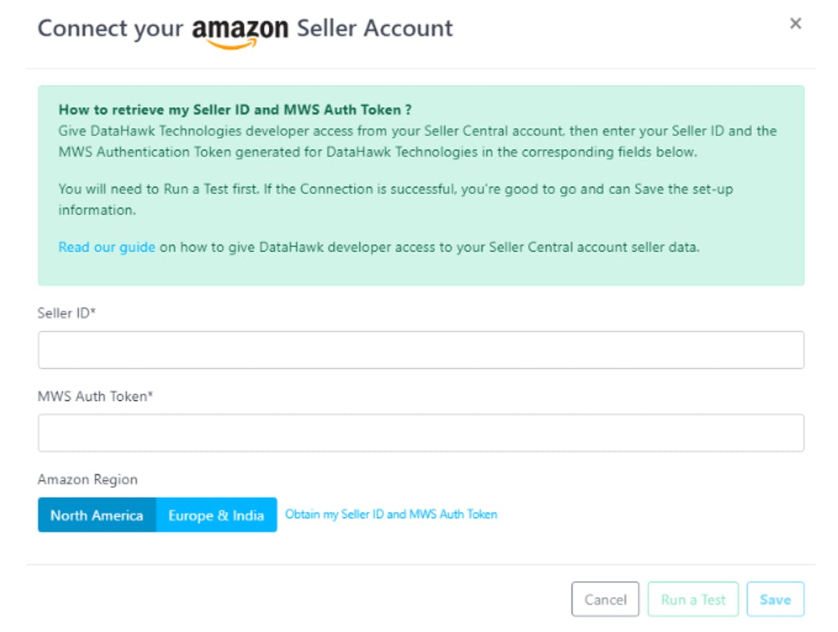 Amazon MWS Final Step