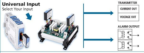 Acromag - Universal Transmitters Offer Dual Relay Output Alarms for Significant Cost Savings