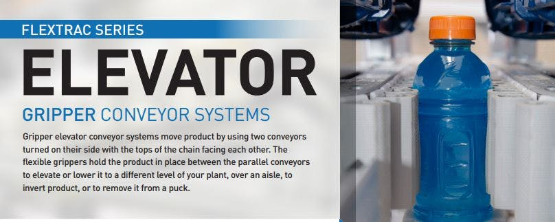 QC Conveyors - Gripper elevator and how do adjustable guides work around curves?