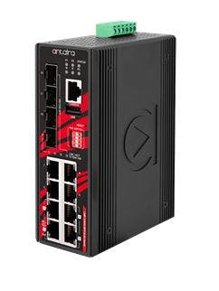Antaira - New Products: 12-Port Industrial Gigabit 802.3bt PoE++ Managed Ethernet Switches