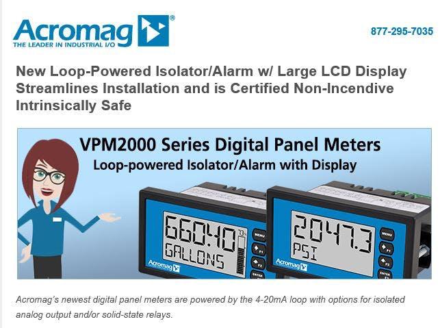 Acromag - New Loop-Powered Digital Panel Meters