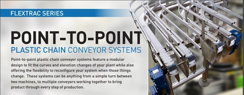 QC Conveyors - POINT-TO-POINT PLASTIC CHAIN CONVEYOR SYSTEMS