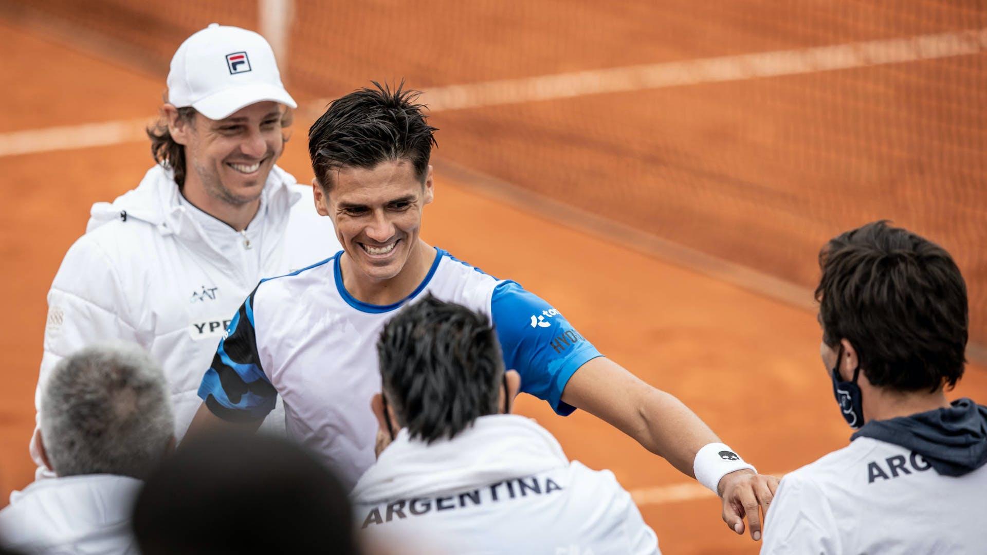 Celebración del equipo argentino © ITF