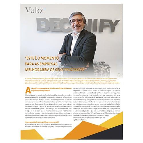 ENTREVISTA JOSÉ MANUEL OLIVEIRA - VALOR MAGAZINE SEMANÁRIO SOL