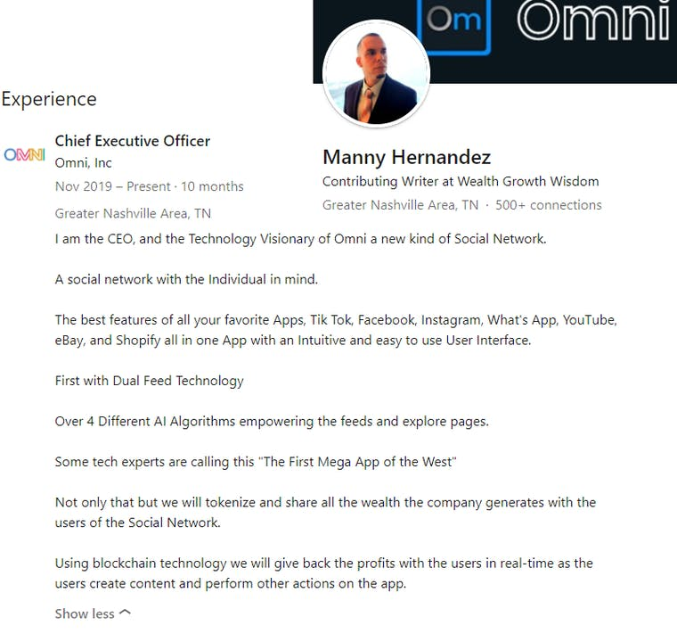 Omni AI description from CEO Manny Hernandez