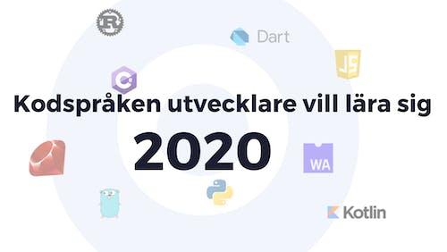 Vilka programmeringsspråk vill utvecklare lära sig 2020?