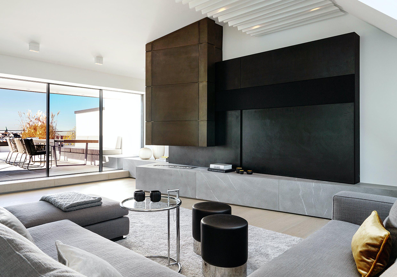 Inneneinrichtung eines hellen Wohnzimmers