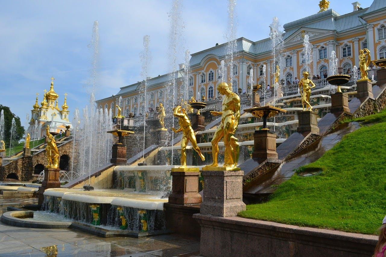 Photo Le palais de Peterhof - Russie