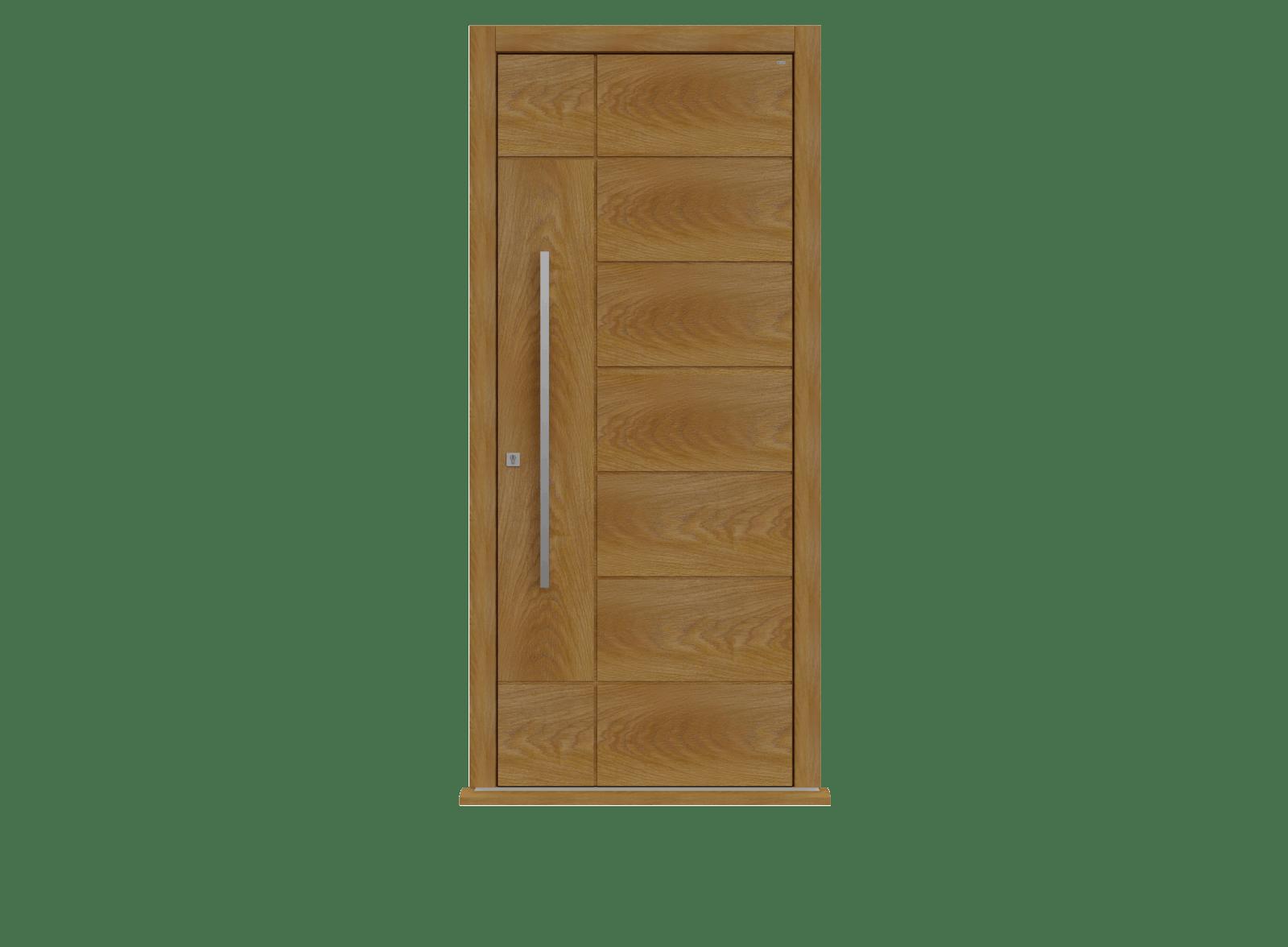 Honey Oak Single leaf front door - Versare by Deuren