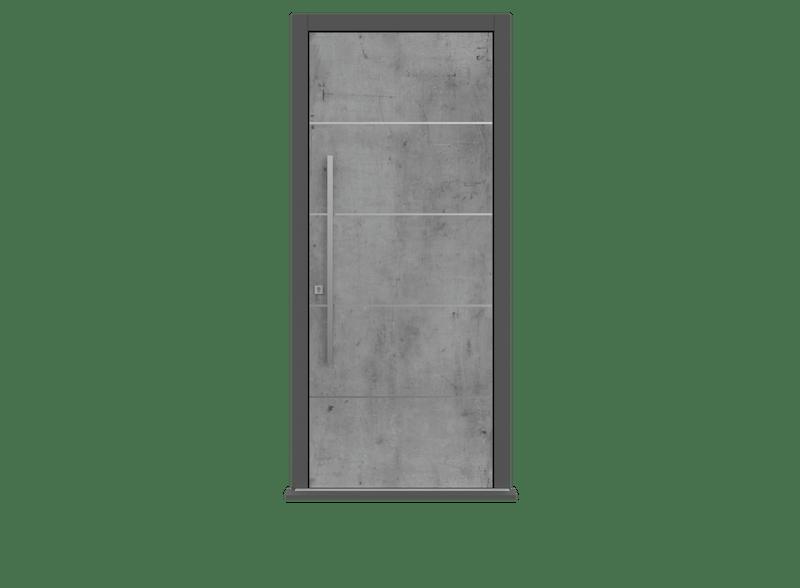 Skyline Single leaf front door - Olivo SI by Deuren