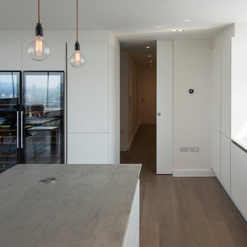 Floor-to-ceiling height doors for maximum impact