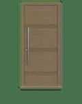 Natural Oak single leaf front door - Linea by Deuren