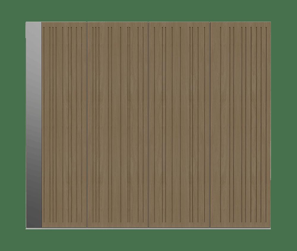 Natural Oak garage door - Toba S by Deuren