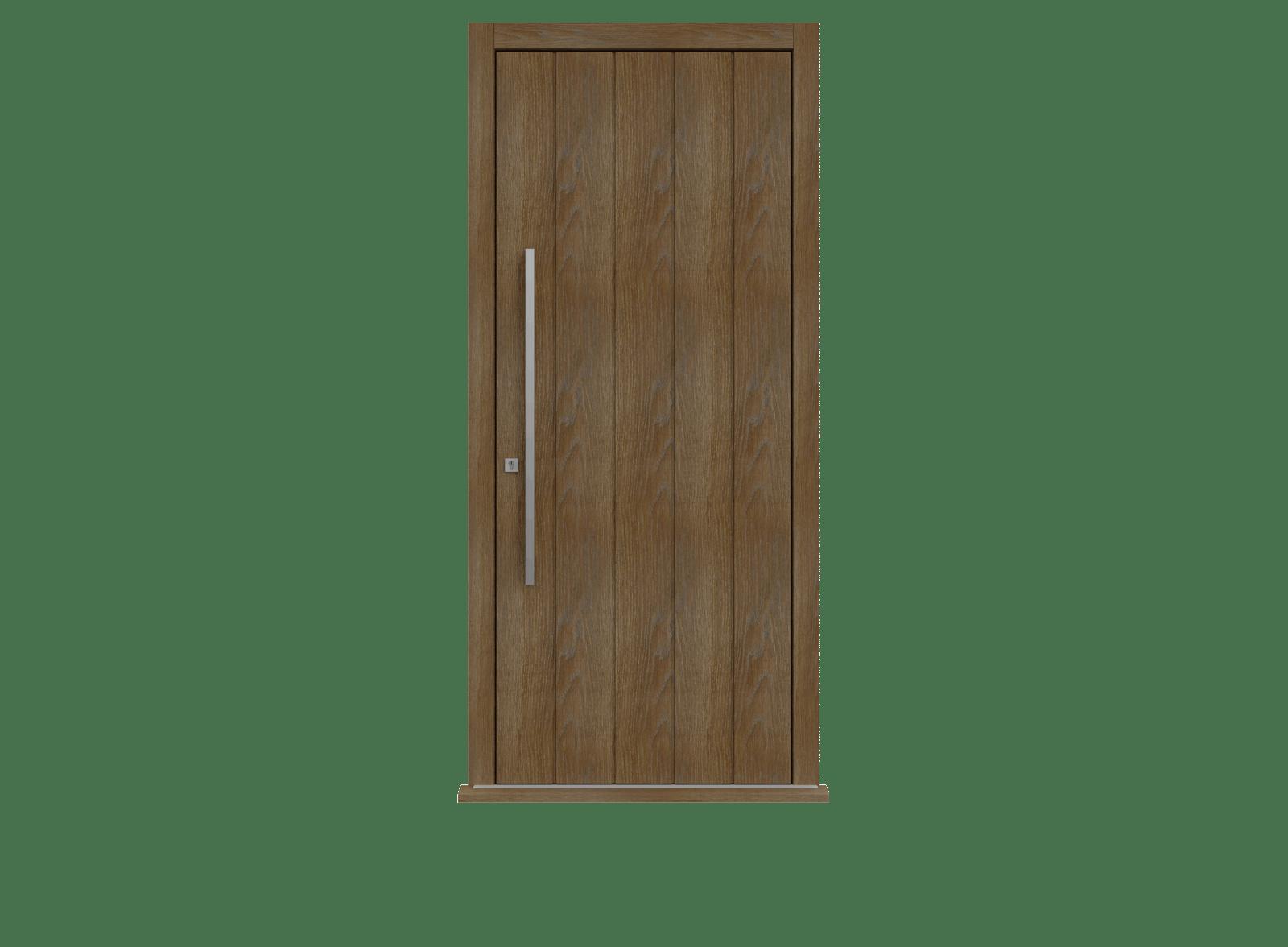Walnut Stained Oak Single leaf front door -  Pichola V by Deuren