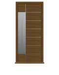 Dark Oak single leaf front door - Versare S by Deuren