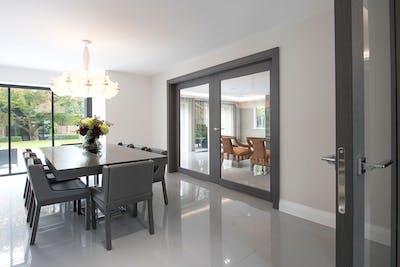 Bespoke Internal Door Gio Glass Grey Oak