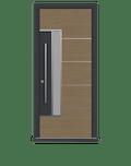 Natural Oak Single leaf front door - Pianura 2 by Deuren
