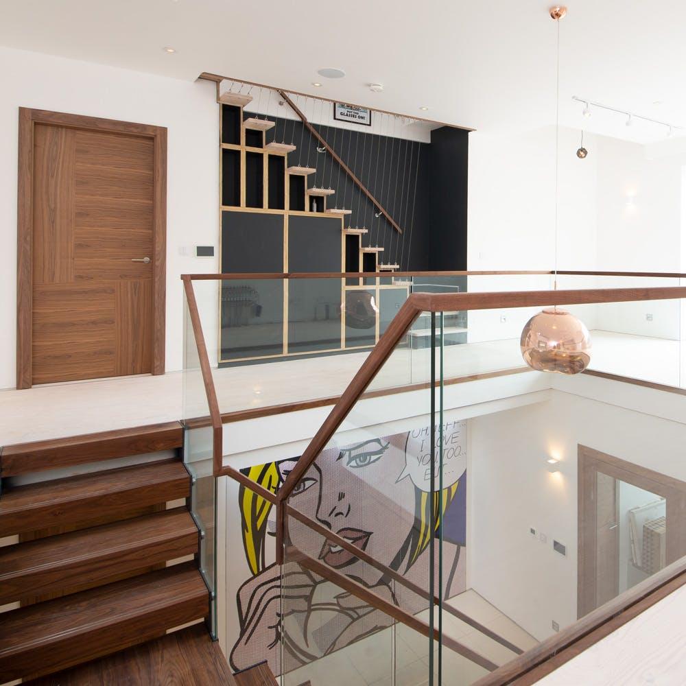 Doors to match an awe-inspiring staircase