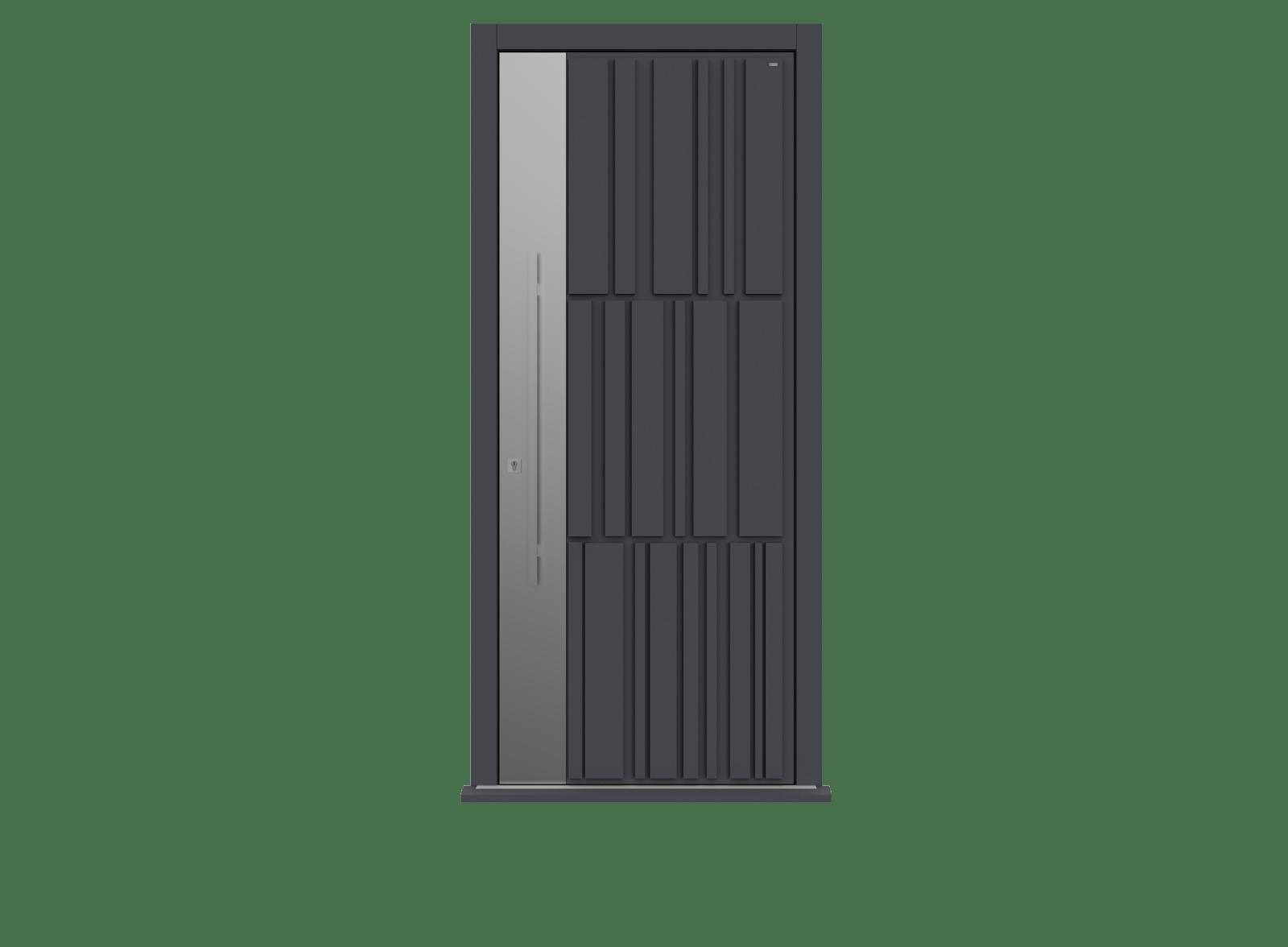 Railings Single leaf front door -  Tavole S by Deuren