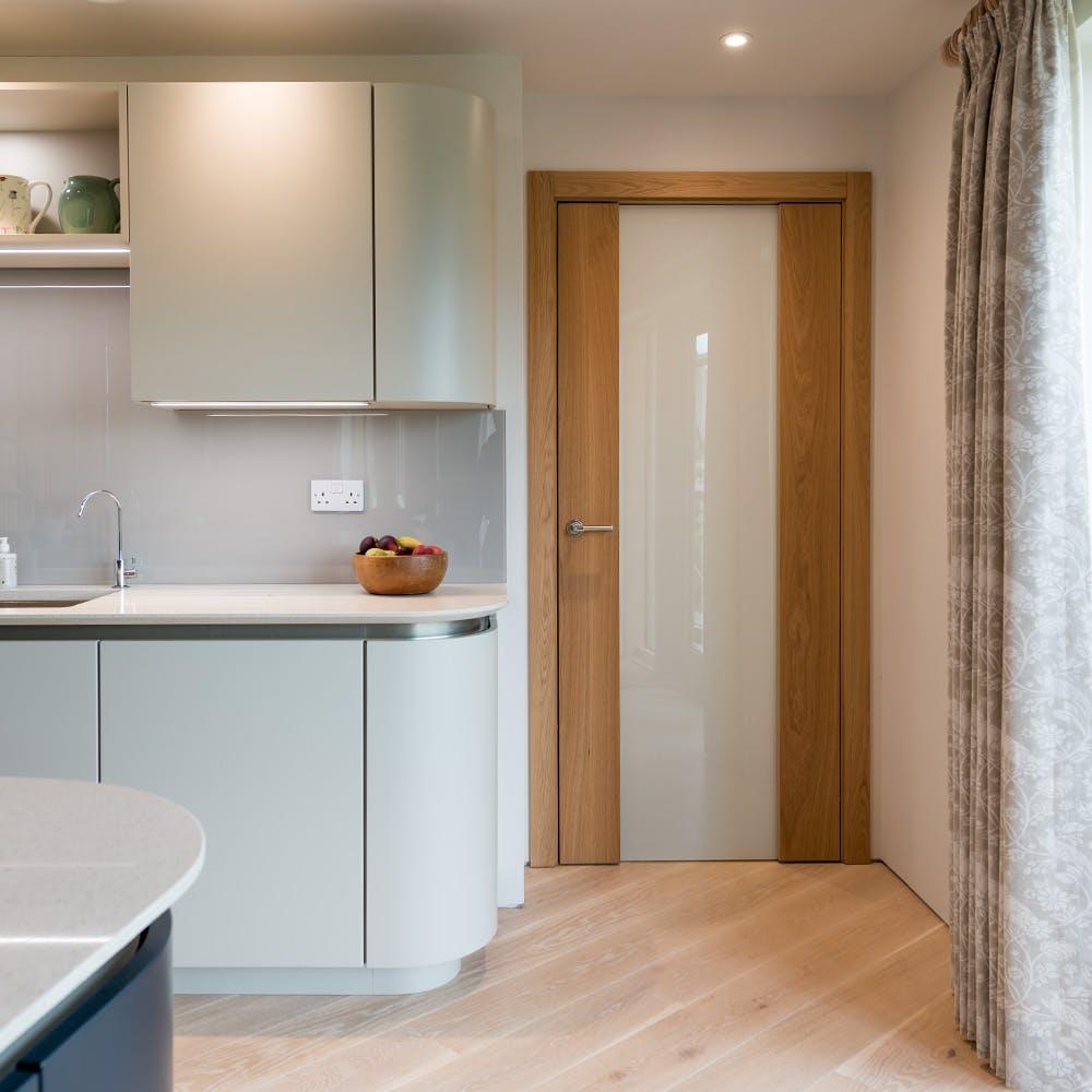 Elegant door design for an ambitious build