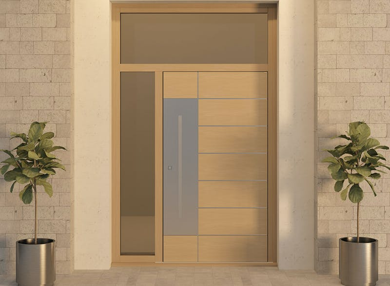 Single leaf front door with glazed panel surround - Versare S by Deuren