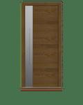 Dark Oak Single leaf front door - Linea S by Deuren
