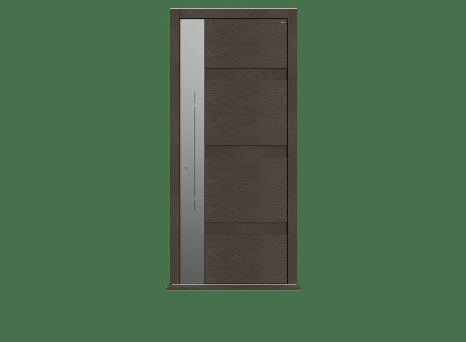 Peco Grigio Single leaf front door - Linea S by Deuren