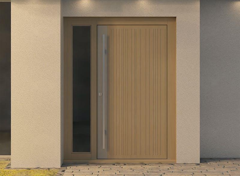 Single glazed lateral front door - Toba S by Deuren
