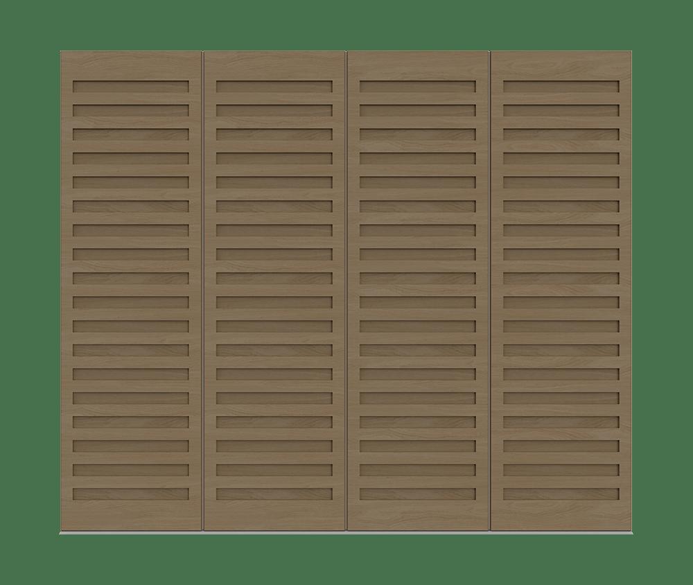 Natural Oak garage door - Como by Deuren