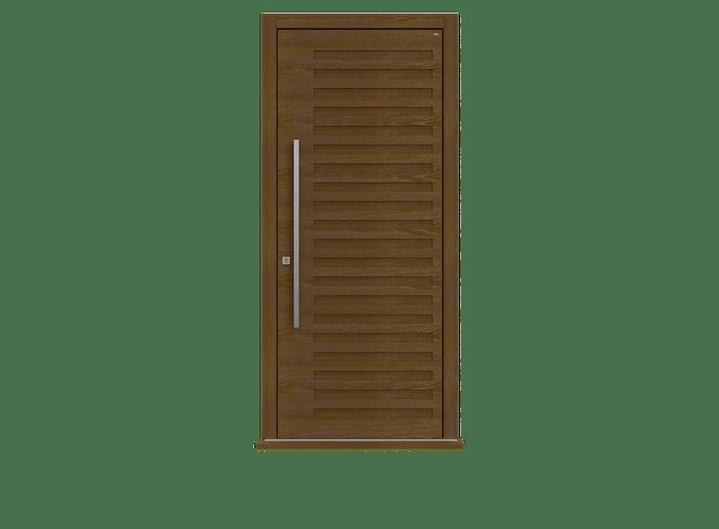Dark Oak Single leaf front door - Como by Deuren