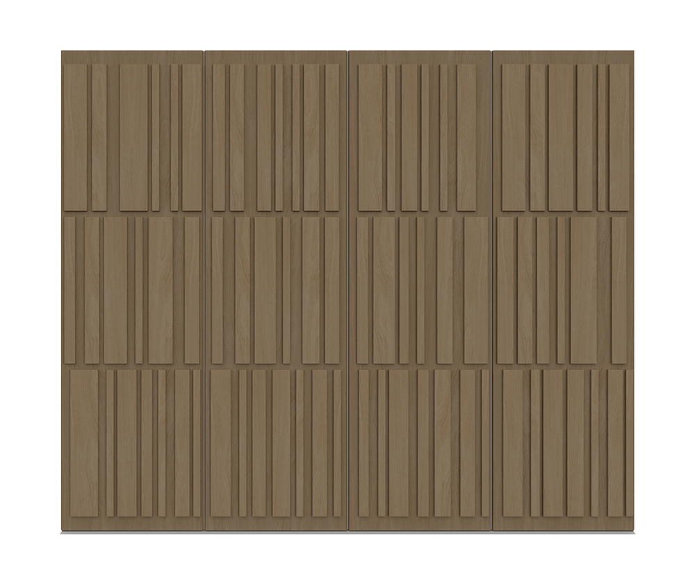 Natural Oak garage door - Tavole bu Deuren