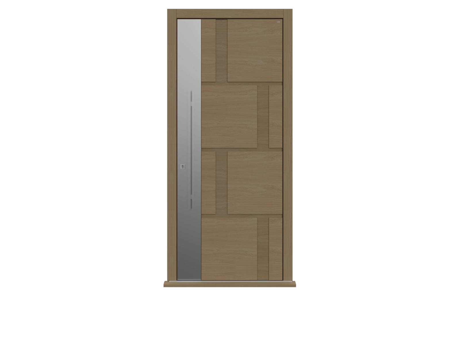 Natural Oak Single leaf front door - Tegal S by Deuren