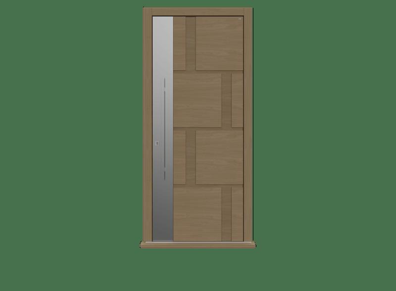 Single leaf front door - Tegal S by Deuren