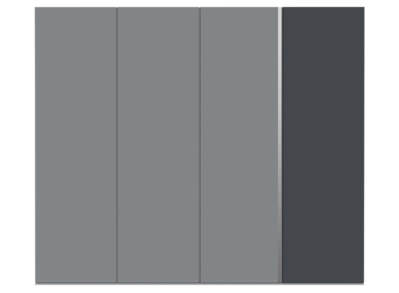 Concrete Grey Garage Door - Ness by Deuren