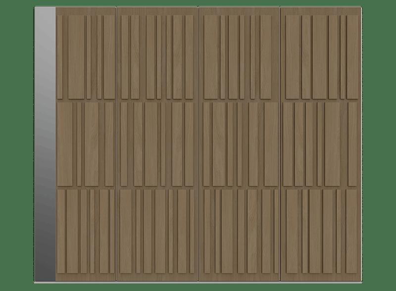 Natural Oak Garage Door - Tavole S by Deuren