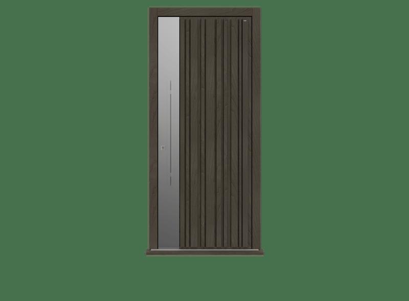 Peco Grigio single hinged front door - Piano S by Deuren