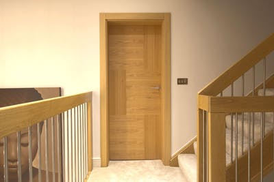 Bespoke Internal Door Natural Oak Vario 6