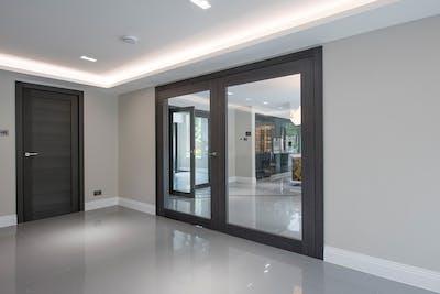 Bespoke Internal Door Gio Glass Double Closed
