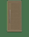 Natural Oak Single leaf front door - Como by Deuren
