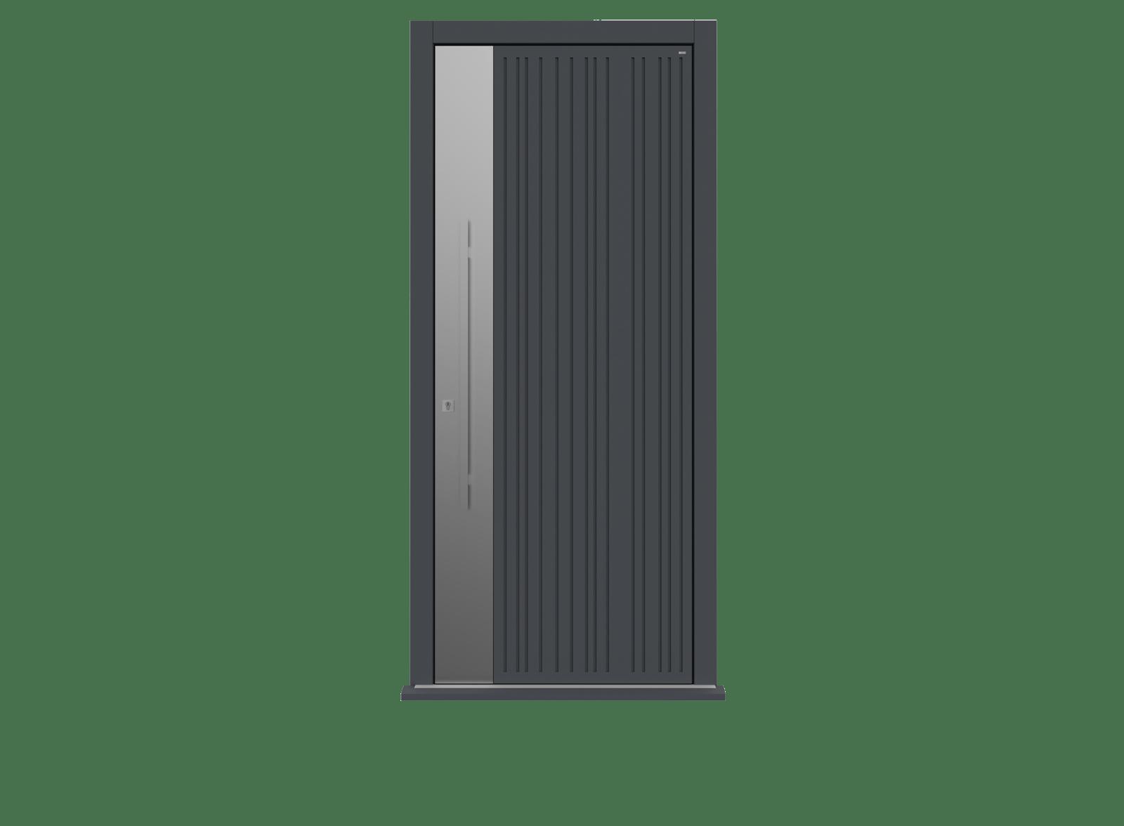Railings Single leaf front door - Toba S by Deuren